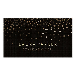 Elegant Glitter Subtle Black Faux Background Double-Sided Standard Business Cards (Pack Of 100)