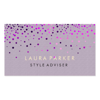 Elegant Glitter Subtle Cream Faux Background Double-Sided Standard Business Cards (Pack Of 100)