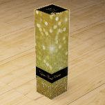 Elegant Glitter Wedding Rings - Wine Gift Box