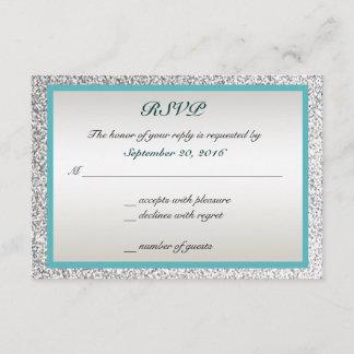 Elegant Glitter Wedding RSVP