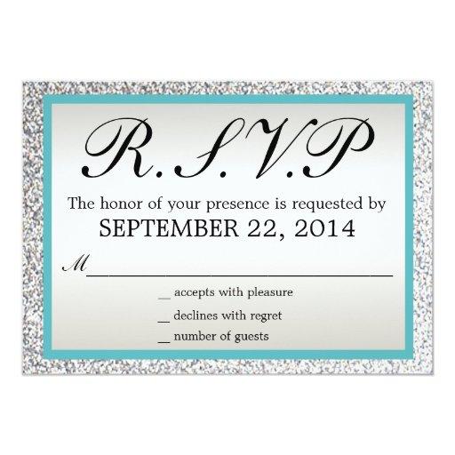 Elegant Glitter Wedding RSVP Invitation