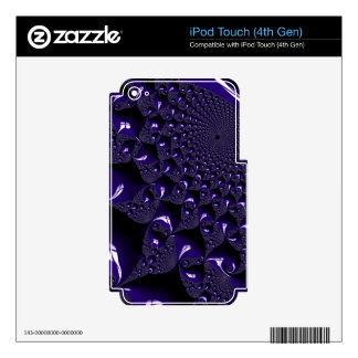 Elegant Glossy  Lavender Fractal Decals For iPod Touch 4G