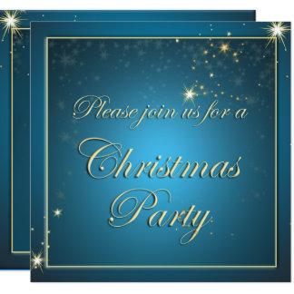 Elegant Glowing Night Christmas Magic Party Invite