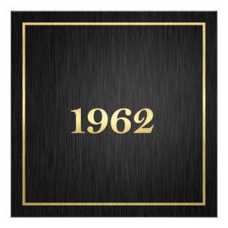 Elegant Gold 1962 Custom Announcements