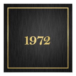 Elegant Gold 1972 blank Invitation