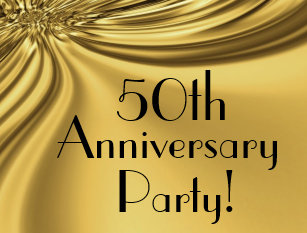 50th anniversary invitation postcards zazzle elegant gold 50th anniversary invitation postcards stopboris Images