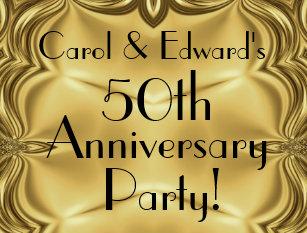 Anniversary party postcards zazzle elegant gold 50th anniversary invitation postcards stopboris Gallery