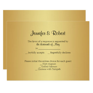 Elegant Gold 50th Anniversary Response Card