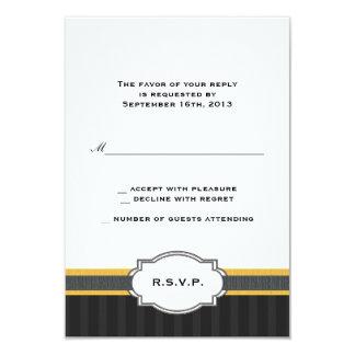 Elegant Gold 50th Anniversary RSVP Response Card