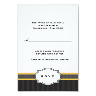 Elegant Gold 50th Anniversary RSVP Response Card Announcement