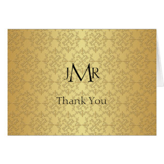 Elegant Gold 50th Anniversary Thank You Card