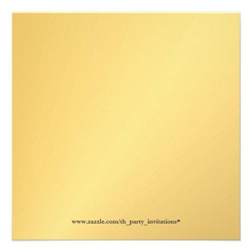 Elegant Gold 50th Birthday Party Photo Invitations (back side)