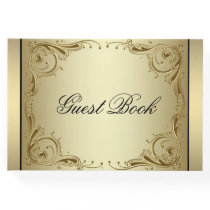Elegant Gold 50th Wedding Anniversary Guest Book