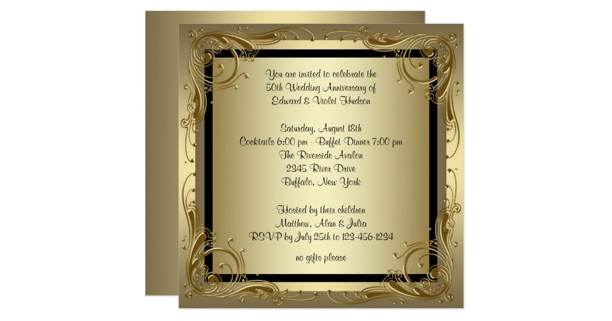 Anniversary Invitations Announcements – Anniversary Invitations