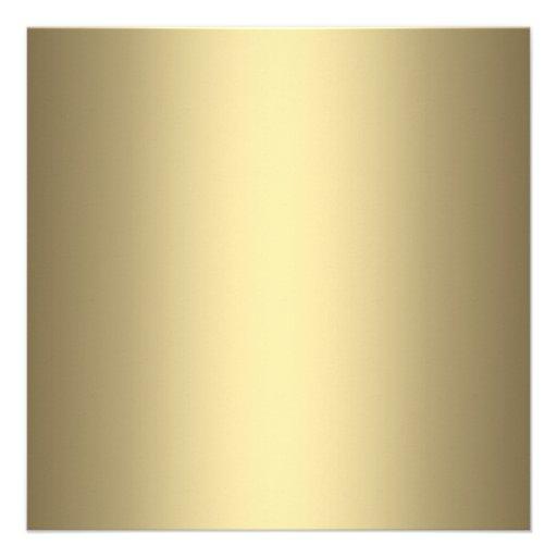 Elegant Gold 50th Wedding Anniversary Party Custom Announcement (back side)