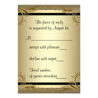 Elegant Gold 50th Wedding Anniversary Party Personalized Announcement