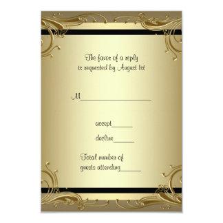 Elegant Gold 50th Wedding Anniversary Party RSVP 3.5x5 Paper Invitation Card