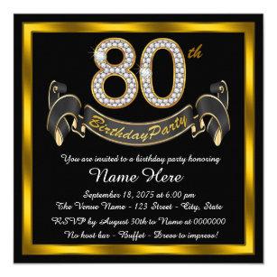 80th Birthday Invitations Announcements Zazzle
