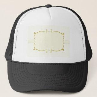 Elegant gold abstract frame trucker hat