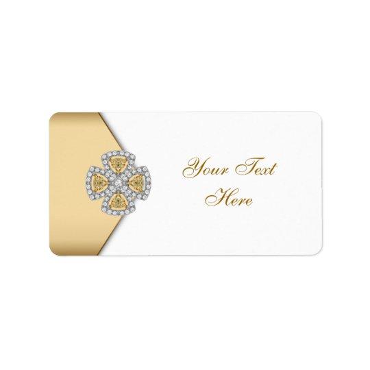 Elegant Gold Address Labels