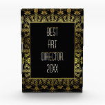 """Elegant gold and black border customizable award<br><div class=""""desc"""">Elegant gold and black border customizable award in art deco style this beautiful and sophisticated gold and black award can be customized to suit your personal requirements. Great for corporate award ceremonies, schools and colleges end of year presentations or a personalized recognition of a loved one. Makes a useful and...</div>"""