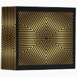 Elegant Gold and Black Stripe Binder 3 Ring Binder