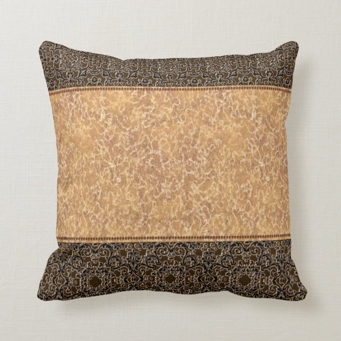 elegant gold and black trimming throw pillow zazzle. Black Bedroom Furniture Sets. Home Design Ideas