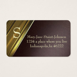 Elegant Gold and purple business card