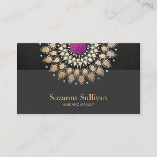 Purple and gold business cards zazzle elegant gold and purple glitter floral business card colourmoves