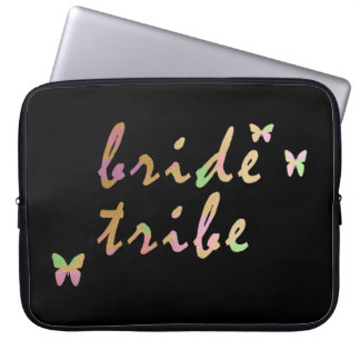 elegant gold and rose gold Bride Tribe Computer Sleeve