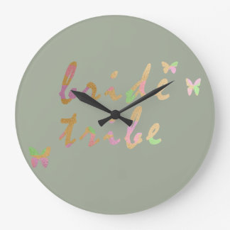 elegant gold and rose gold Bride Tribe Large Clock