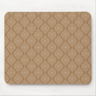 Elegant Gold And White Damask Pattern Mouse Pad