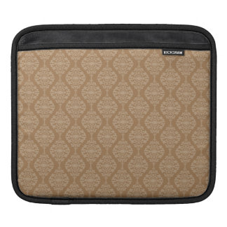 Elegant Gold And White Damask Pattern Sleeve For iPads
