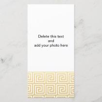 Elegant Gold and White Greek Key Pattern