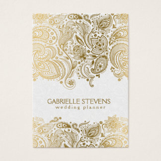Zazzle wedding business cards choice image card design and card elegant lace wedding business cards templates zazzle elegant gold and white paisley 3 wedding planner business flashek Images