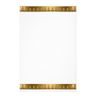 Elegant Gold Banner with trees Stationery