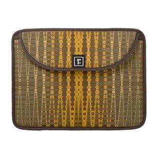 elegant gold beaded pattern sleeves for macbook pro