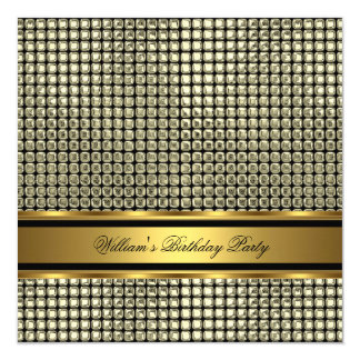 Elegant Gold Birthday Party Mens Man Card