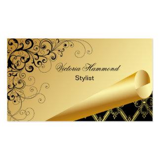 Elegant Gold & Black Business Card