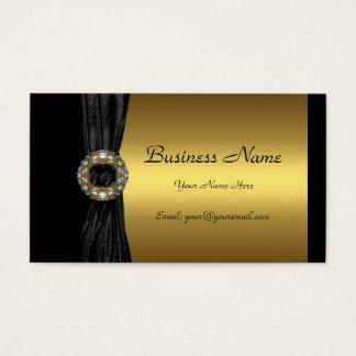 Elegant Gold Black Diamond jewel Business Card