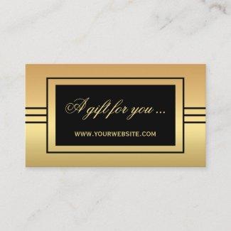 Elegant Gold Black Gift Certificate Template