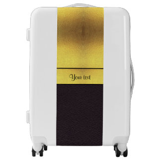 Elegant Gold & Black Luggage