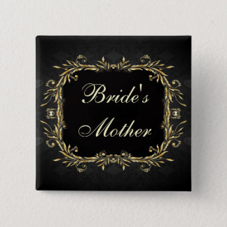 Elegant Gold black Regal formal Wedding Button