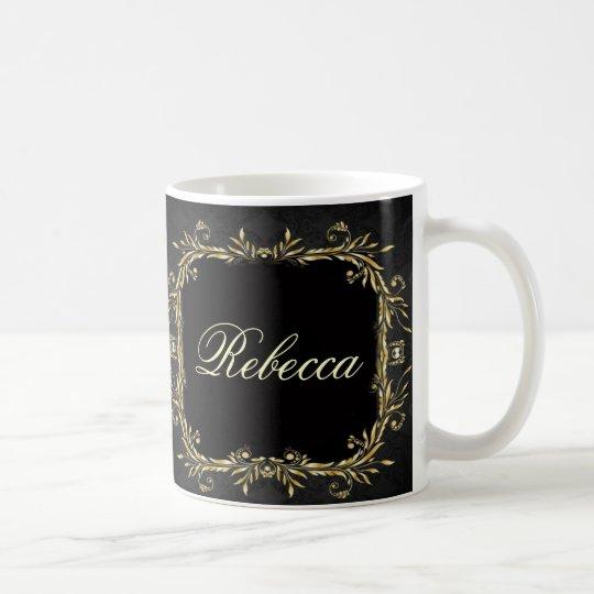 Elegant Gold black Regal formal Wedding Coffee Mug