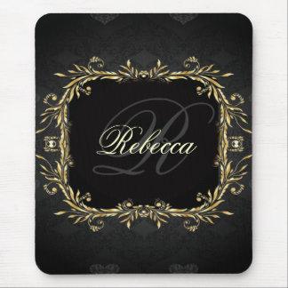 Elegant Gold black Regal formal Wedding Mouse Pad