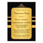 Elegant Gold & Black Retirement Party Invitation