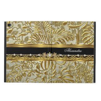 Elegant Gold Black Silver Damask Fashionable Powis iPad Air 2 Case