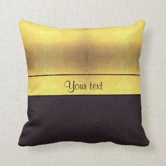 Elegant Gold & Black Throw Pillow