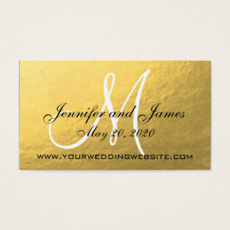 Elegant Gold Black Wedding Website Card