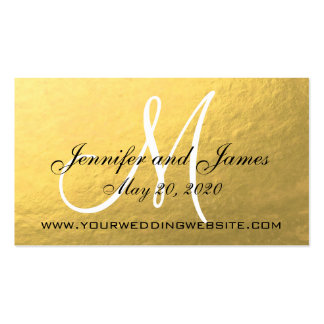 Elegant Gold Black Wedding Website Card Business Card